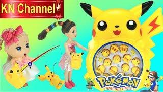 KN Channel BÉ NA CÂU POKEMON VUI NHỘN Đồ chơi trẻ em FISHING GAME
