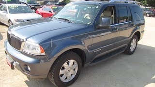2003 LINCOLN AVIATOR LUXURY EDITION Start Up, Walk Around Tour And Review