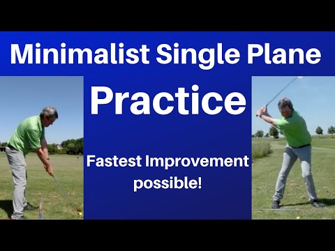Practicing the Minimalist Single Plane golf swing - Hit straight and Long Golf shots.