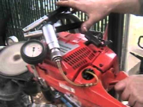 The chainsaw guy diagnostic test Husqvarna 372 XPW Chainsaw 11 9