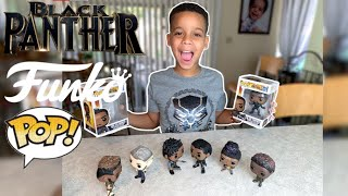 Black Panther Funko Pop Haul - Unboxing collection | Erik Killmonger, Nakia, M'Baku, Shuri & Klaue