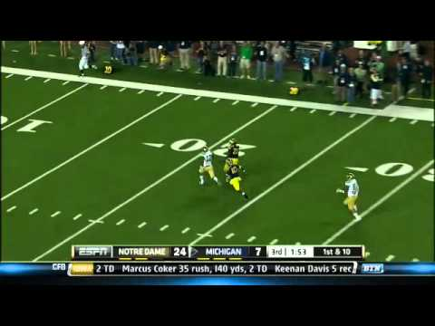 Notre Dame at Michigan - Football Highlights