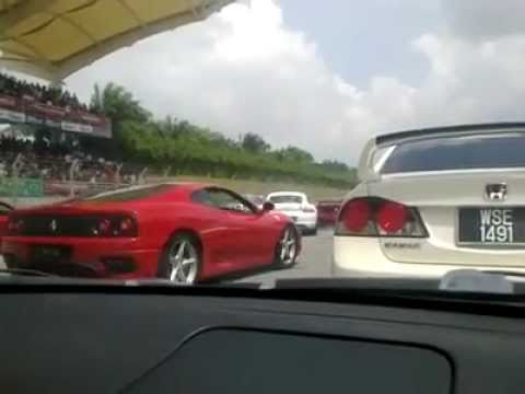 Porsche crashed into Ferrari!