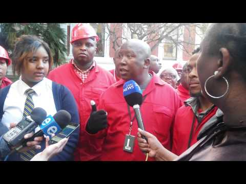 Julius Malema post Presidential Q &A session 2015