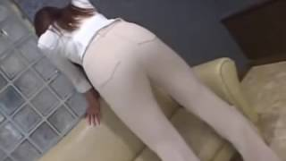 sexy asian woman tight jeans and thong fart