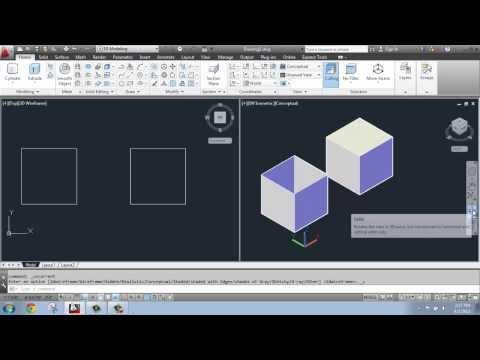 AutoCAD 2013 - 3D Modeling Basics #5 - Extruding: Solid vs. Surface - Brooke Godfrey