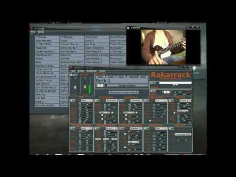 Rakarrack Synth midi guitar, lmms zynaddsubfx live, linux  home studio open source