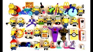 2017 FULL WORLD SET McDONALD'S DESPICABLE ME 3 MINIONS HAPPY MEAL TOYS 29 KIDS COLLECTION EUROPE USA