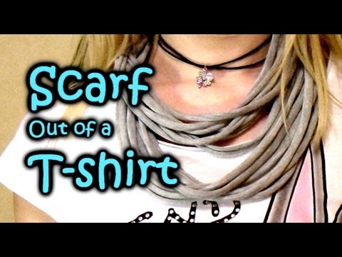 Diy How To Make Scarf Out Of T Shirt No Sew Multi Strand