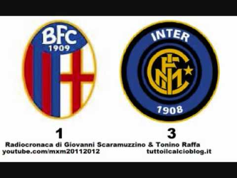 BOLOGNA-INTER 1-3 – Radiocronaca di Giovanni Scaramuzzino & Tonino Raffa (24/9/2011) da Radiouno RAI