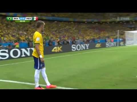 worldcup 2014 - sensational save by Mexico (Guillermo Ochoa) Brazil vs mexico