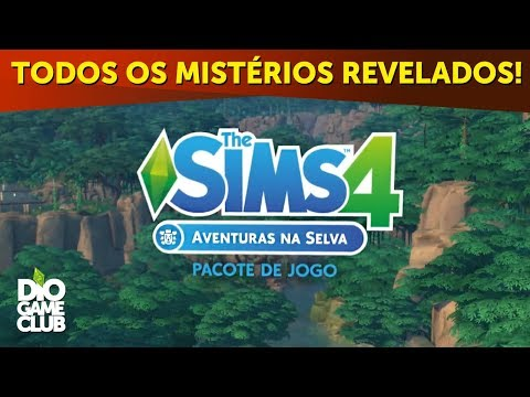 THE SIMS 4 AVENTURAS NA SELVA! MISTÉRIOS REVELADOS! ~ Análise de trailer oficial | DioGameClub
