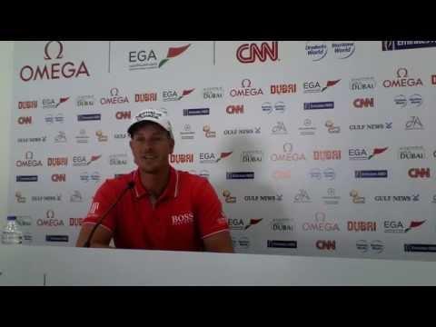 Henrik Stenson Pre Press Conference ahead of the 2015 Omega Dubai Desert Classic