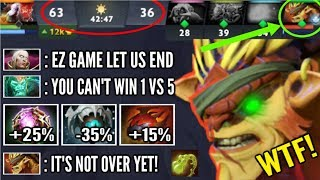 1v5 They Think its Over But, Forgot Bristleback Got Out of Control Most Epic Comeback WTF Dota 2