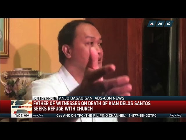 Father of witnesses on Kian's death seeks refuge in church
