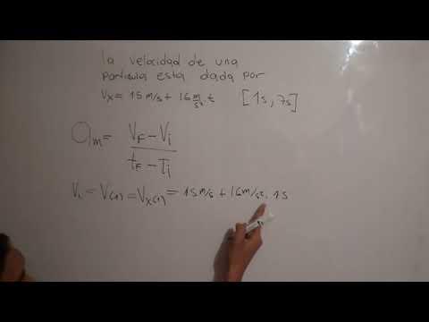 ¿Como calcular la aceleracion media?  FisicaCiencia en HD