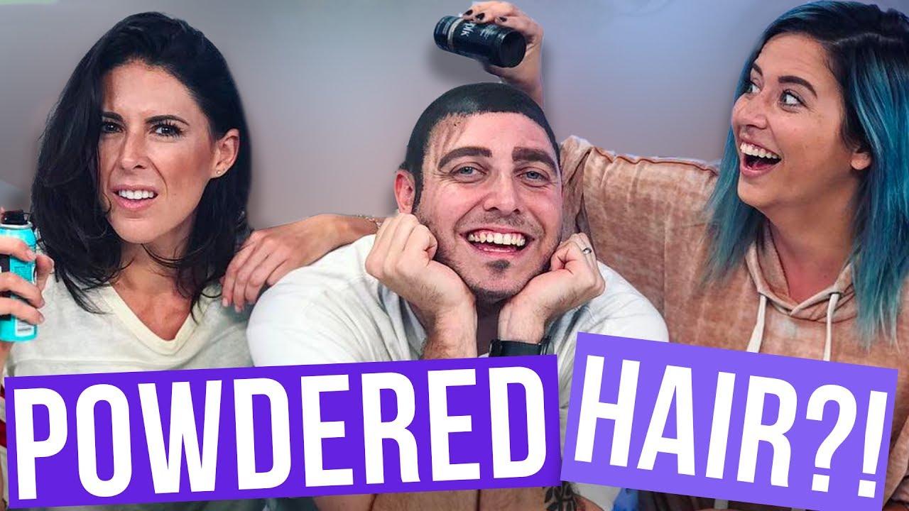 Using Powdered Hair on Sound Guy (Beauty Break)