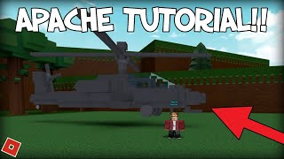 [TUTORIAL] How to make an AH-64 APACHE in Build a Boat!! | ROBLOX