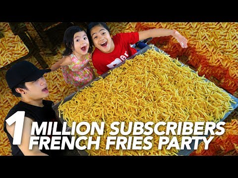 1 MILLION SUBSCRIBERS FRENCH FRIES PARTY | Ranz and Niana