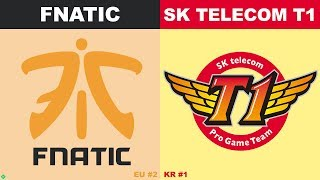 FNC vs SKT - Worlds 2019 Group Stage Day 1 - Fnatic vs SK Telecom T1