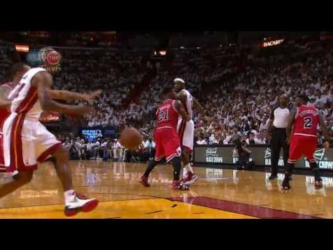 LeBron's behind-the-back dish to Ray Allen!