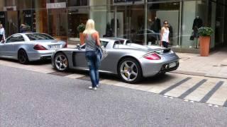 Porsche Carrera GT Start up, HUGE acceleration & WHEELSPIN