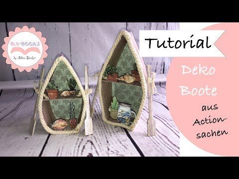 DIY * Deko Boote * aus meinem Action Haul * basteln mit Papier * wie Dollar Tree * Tutorial