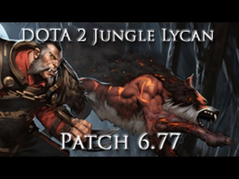DOTA 2 - Lycan Jungle Guide Patch 6.77 - 12-13 minute Roshan, No Bottle Crow or Pull