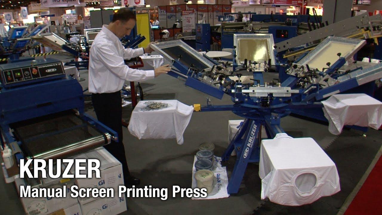 Kruzer M Amp R Screen Printing Equipment Manual Screen
