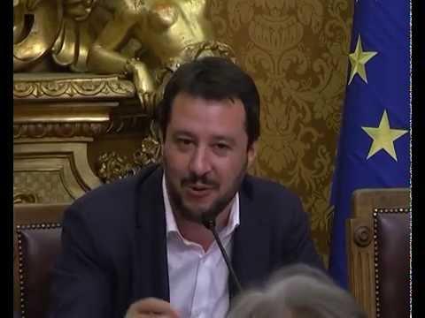 CONFERENZA DI MATTEO SALVINI CON FORZA ITALIA A MONTECITORIO