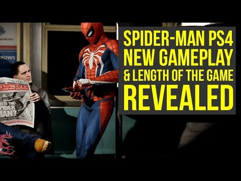 New Spider Man PS4 Trailer Shows NEW SCENES, Game Length Revealed & More! (Spiderman PS4 Gameplay)