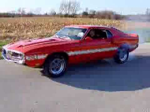 69 Shelby gt 500 burn out Video
