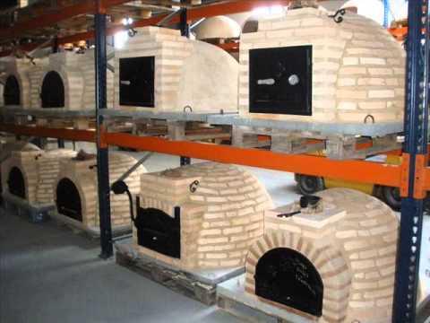 Alfareria rosa hornos de le a montados ladrillo youtube - Materiales para hacer un horno de lena ...