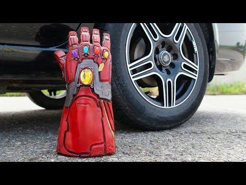 CAR VS ENDGAME IRON MAN GAUNTLET