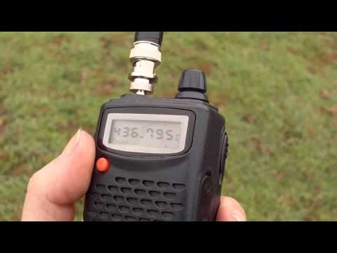 Quansheng TG-K4AT + Antenna CJU + AO-27 Amateur Satellite