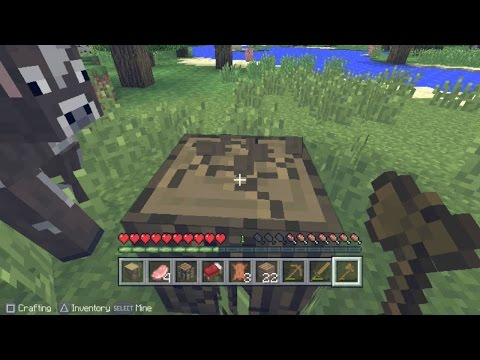 Minecraft PS Vita Edition Gameplay