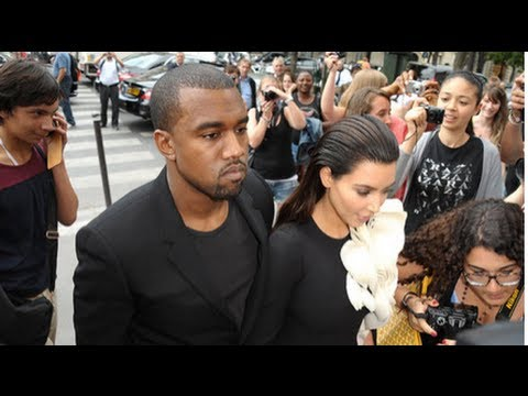 Kim Kardashian and Kanye West's Matching Looks at Paris Fashion Week