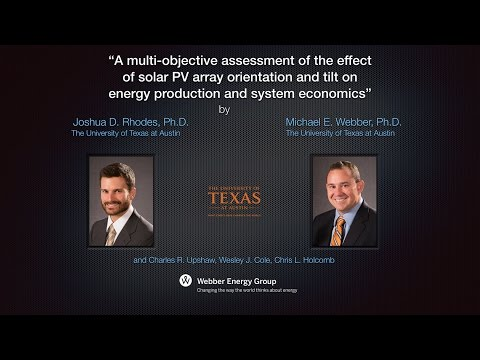 Effects of Solar PV Array Orientation and Tilt on Energy Production and Economics