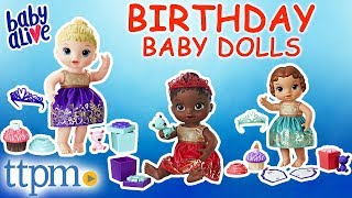 Baby Alive Cupcake Birthday Baby Dolls Review | Hasbro Toys & Games