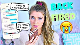 Texting Lyric Prank On Boyfriend Backfires....Break up!