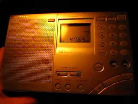 Radio Tajikistan 4765 kHz received in Germany on Sony ICF-SW7600GR
