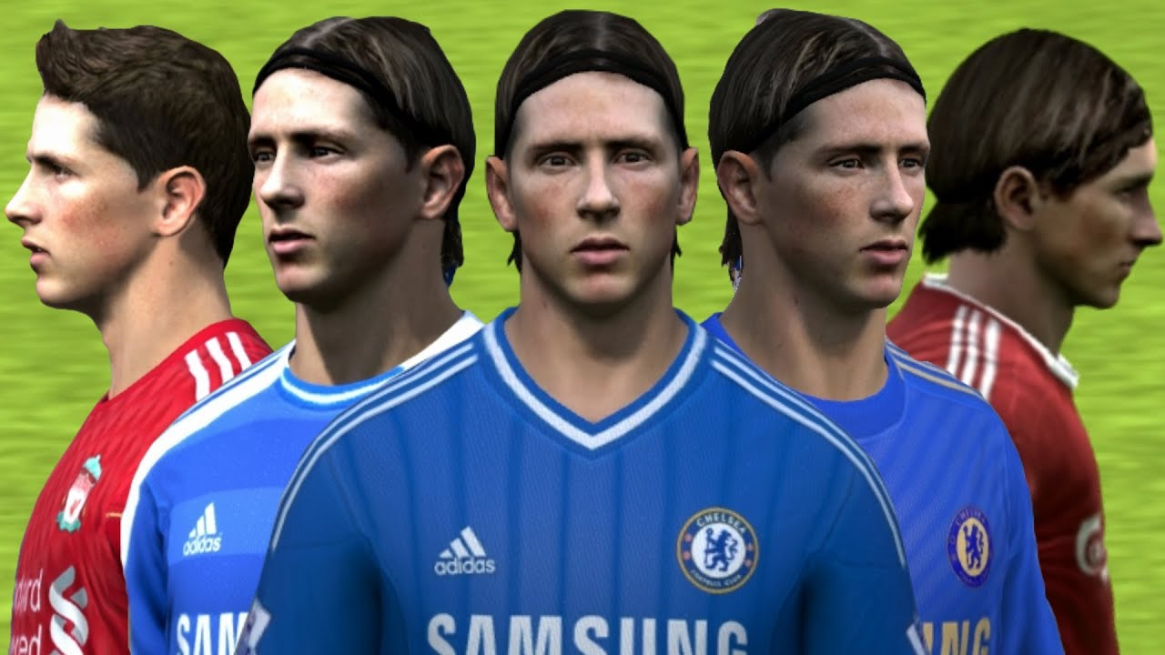 Torres from FIFA 04 to 14 Face Rotation and Stats   HD 1080p