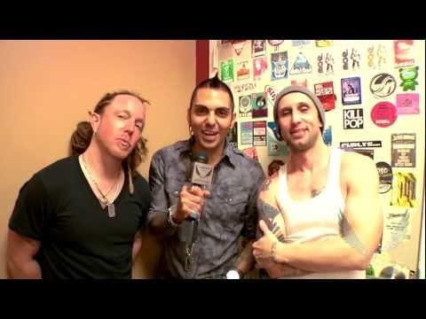 Dean Artist Eric Bass and ddrum Artist Barry Kerch of Shinedown at the Dean Guitars NAMM Jam.