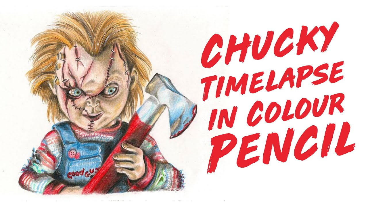 how to draw chucky and tiffany