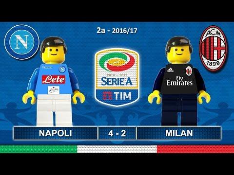 Napoli Milan 4-2 • Serie A 2017 (27/08/2016) goal highlights sintesi Lego Calcio