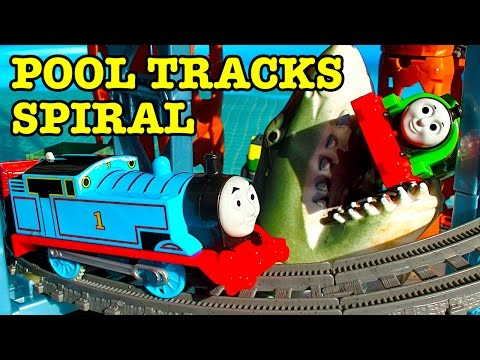 Thomas Tank Trackmaster Titanic Pool Tracks Spiral How To Make