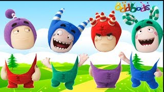 Oddbods Wrong Heads Finger Family Song 毛毛頭 Surprise Toys Cartoon