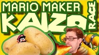 Mario Maker - Delicious Hot Potato and Trial by Cannon Fire | Blind Kaizo Race #21