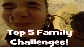TOP 5 FUNNY FAMILY CHALLENGES YOU CAN DO AT HOME!!