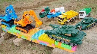 Build Bridge Blocks Toys for Children | Military Army Tank, Rocket Car, Excavator Toys for Kids